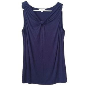 CAbi Blueberry Knotted Knit Top